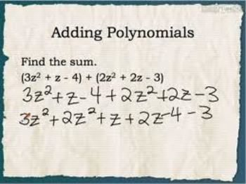 Adding And Subtracting Polynomials Worksheet 20 Q With Images