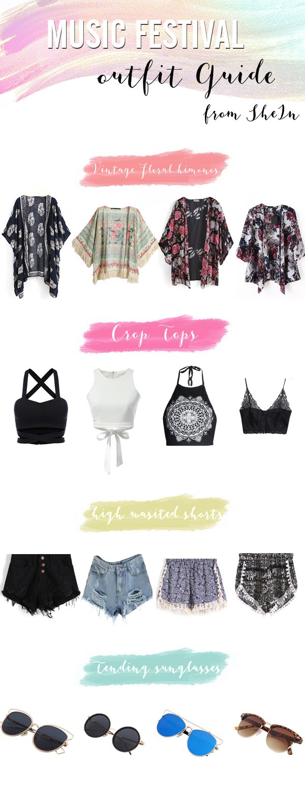 15158c744f What to wear to a music festival - cute outfit ideas and tips,all items  perfect for spring and summer! check SheIn.com now #FestivalFashion -  #Coachella# ...