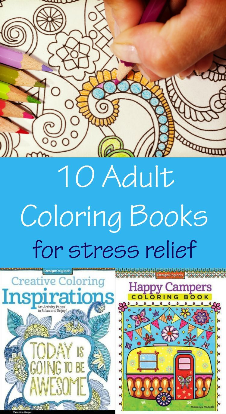 10 Adult Coloring Books For Stress Relief Coloring Books