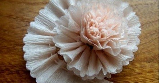 Simple and stunning crepe paper flower!