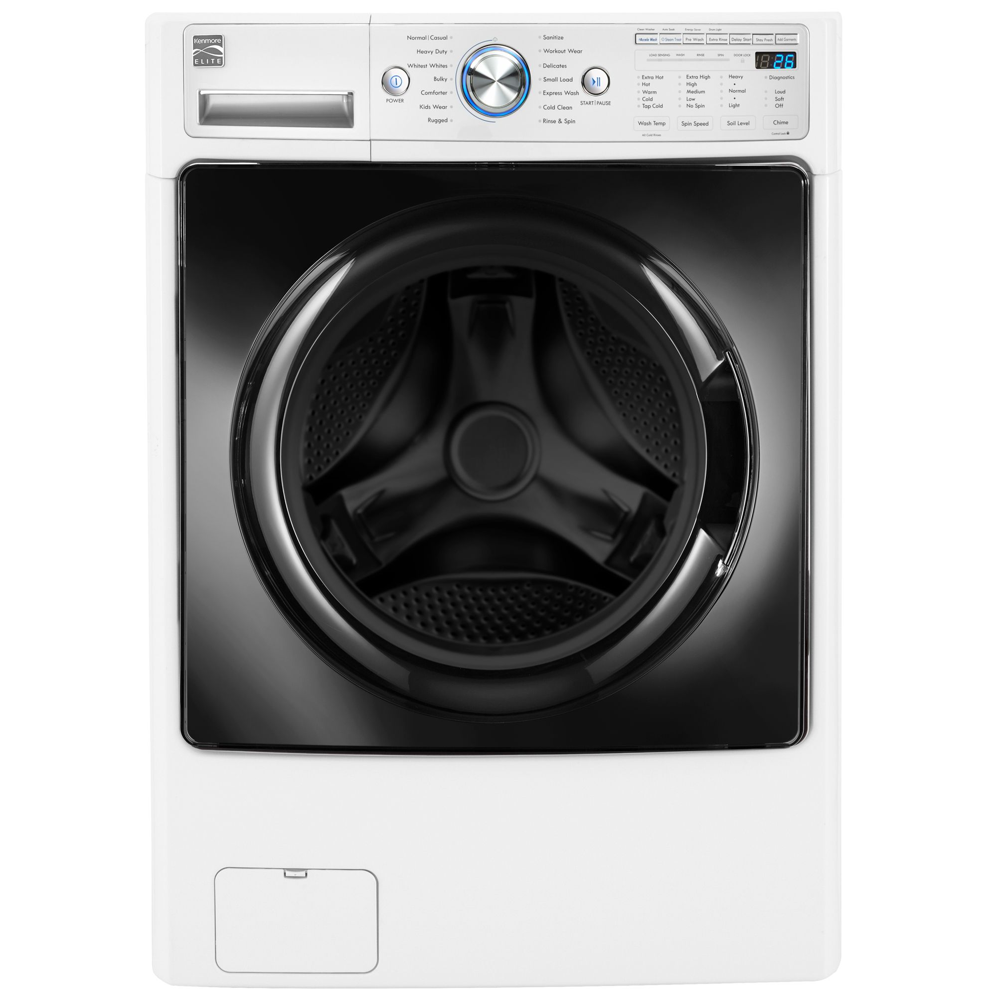 Kenmore Elite 41682 4.5 cu. ft. Front-Load Washer w/Steam & Accela ...