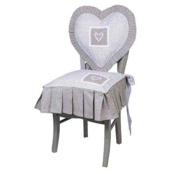 Galette de chaise cl mence aliz a alizea linge de maison for Galette de chaise 45x45