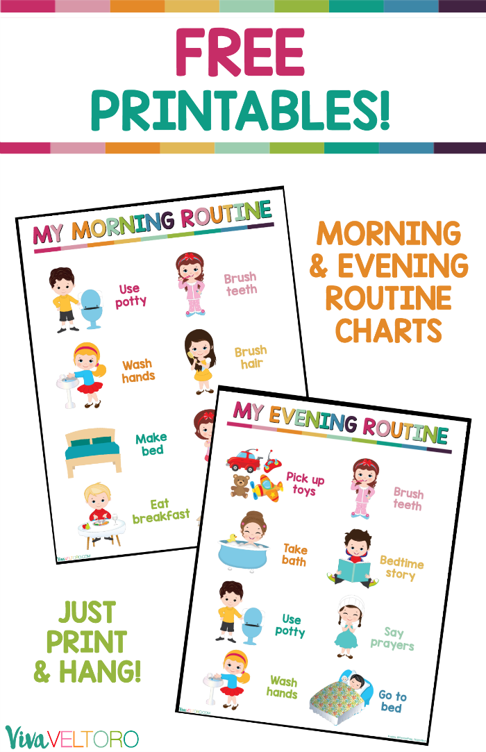 photograph regarding Children's Routine Charts Free Printable referred to as Such every day schedule charts for little ones are excellent for babies