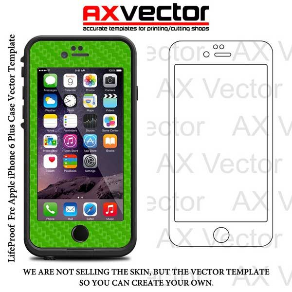 lifeproof fre iphone 6 plus vector template
