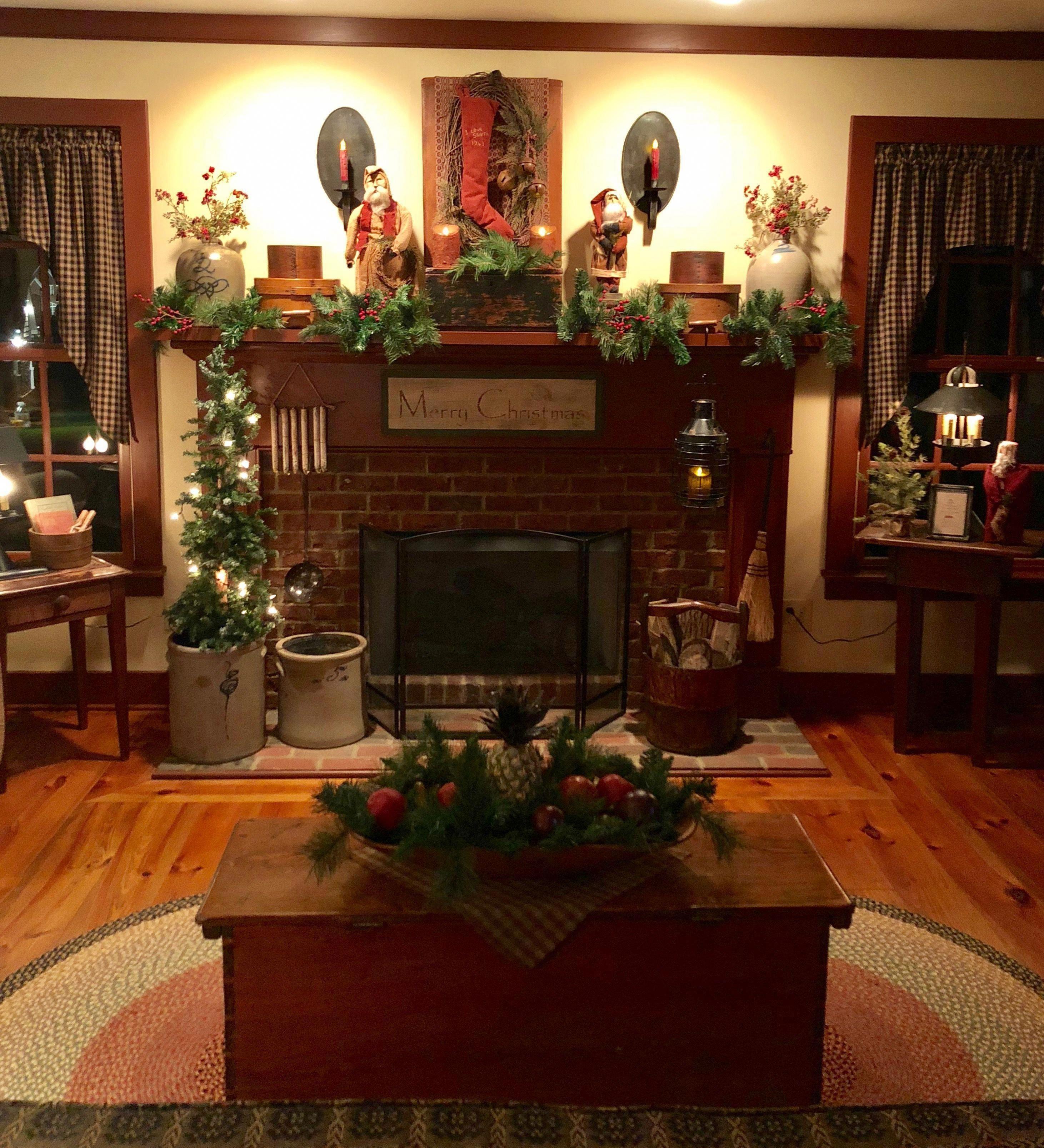 Home Design Ideas For Christmas: Country Primitive Magazine #Countryprimitive