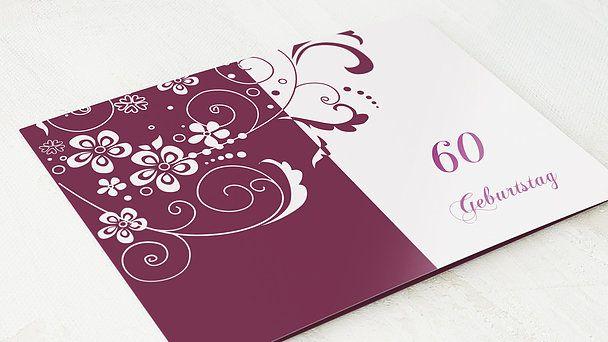 horizontale klappkarte 148x105 - burgunder