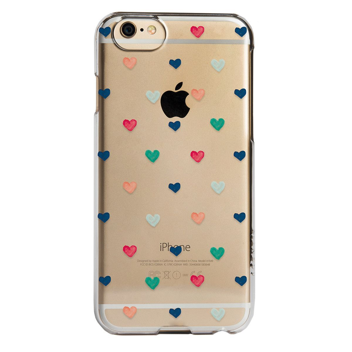 iPhone 6/6s SlimShield - Clear Hand Drawn Hearts