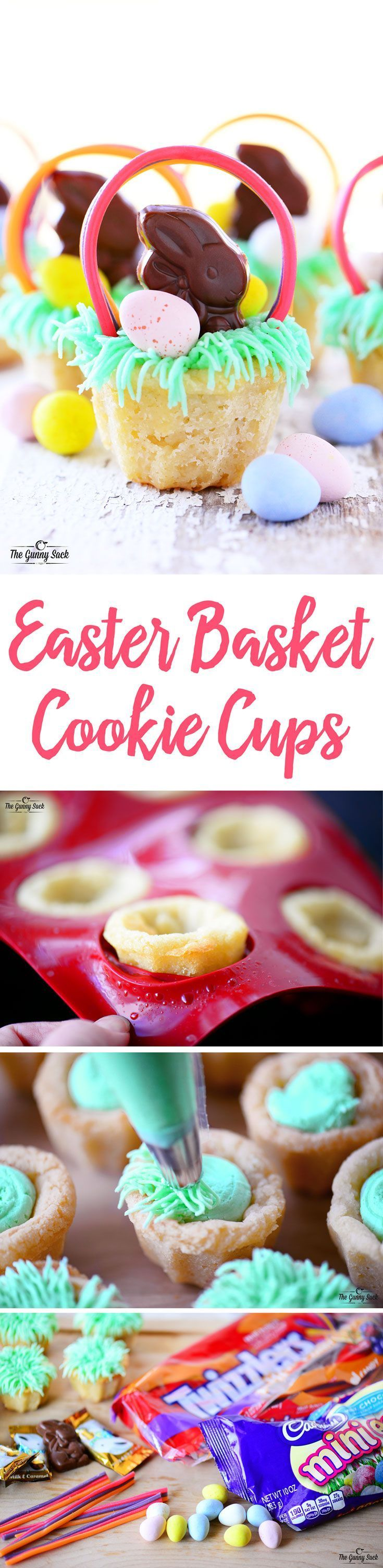 These adorable easter basket cookie cups are almost too fun to eat these adorable easter basket cookie cups are almost too fun to eat an easter dessert negle Choice Image
