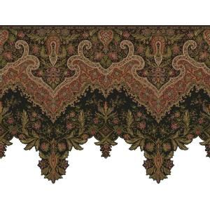 The Wallpaper Company 20 5 In X 15 Ft Noir Paisley Border Wc1283025 At The Home Depot Victorian Wallpaper Wallpaper Companies Paisley Wallpaper