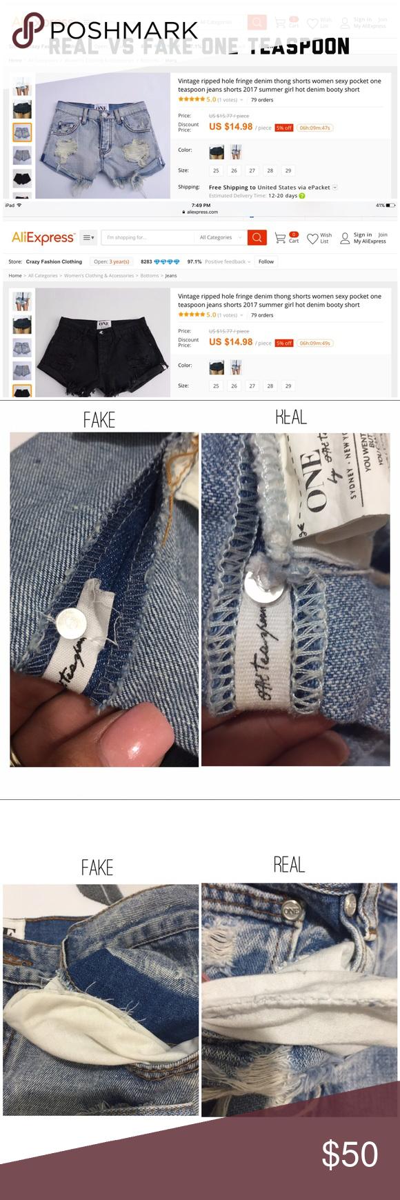 One Teaspoon Shorts Fake Vs Real One Teaspoon Shorts Fashion Trends Fashion