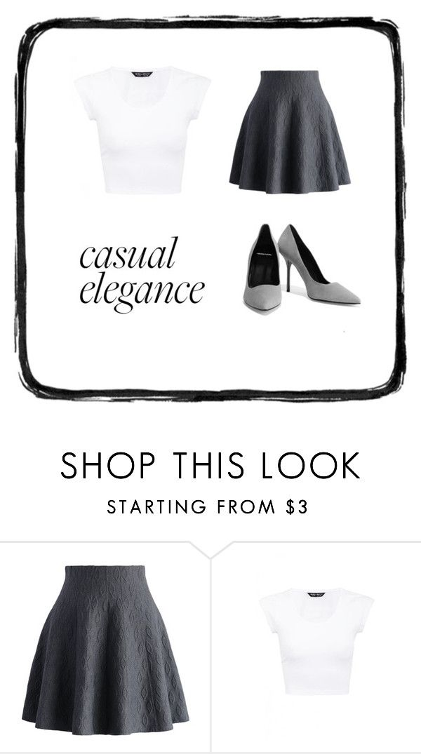 """casual elegance"" by lieselot-brandsen ❤ liked on Polyvore featuring Chicwish and Pierre Hardy"