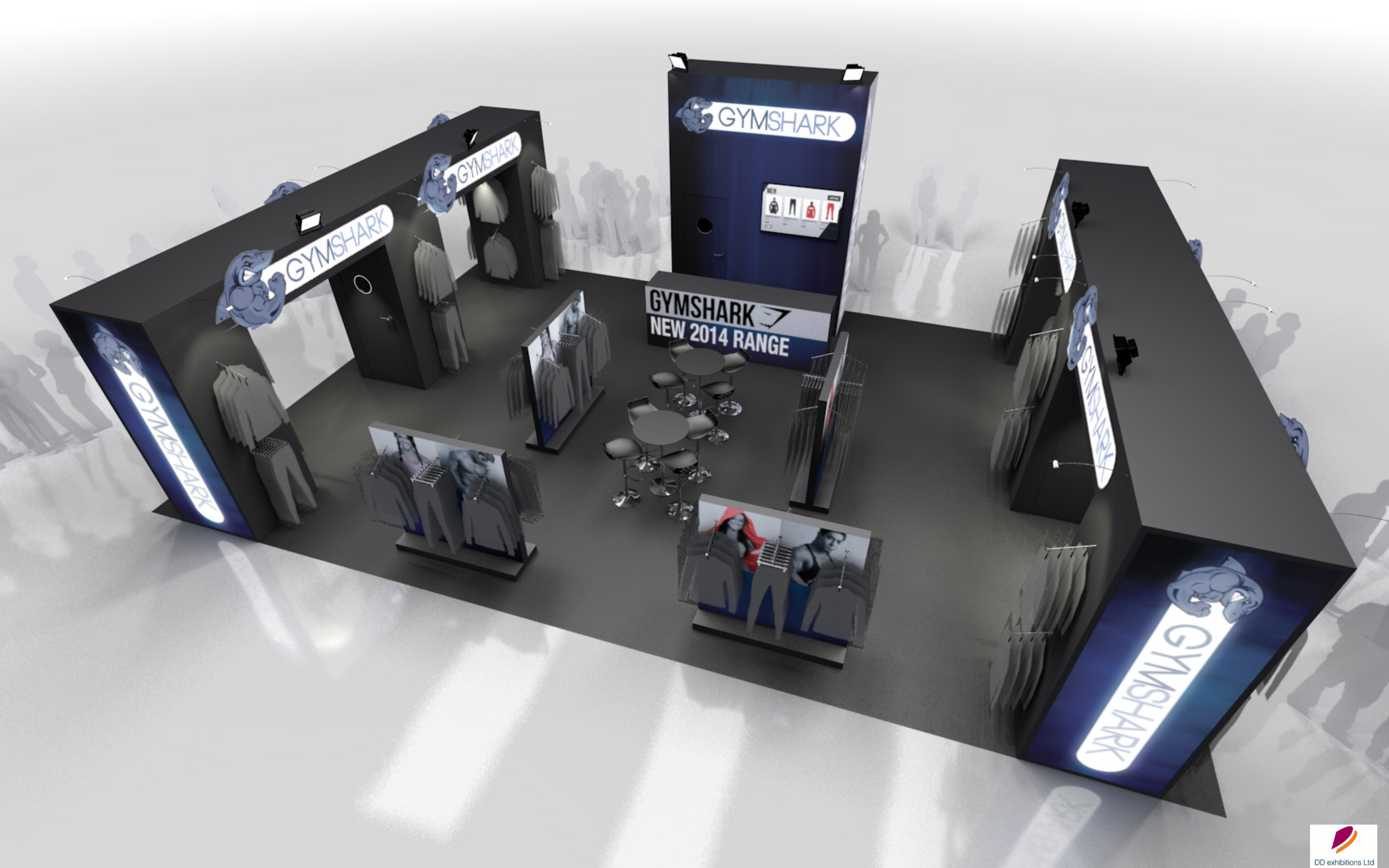 Corner Exhibition Stands Quest : Exhibition stand design stand design created for gym shark for