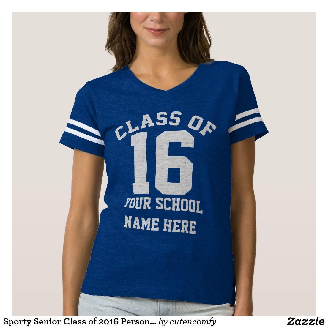c9f5362269190 Bandeira De Futebol Americano · Sporty Senior Class of 2016 Personalized  School T-shirt Camisetas De Formatura