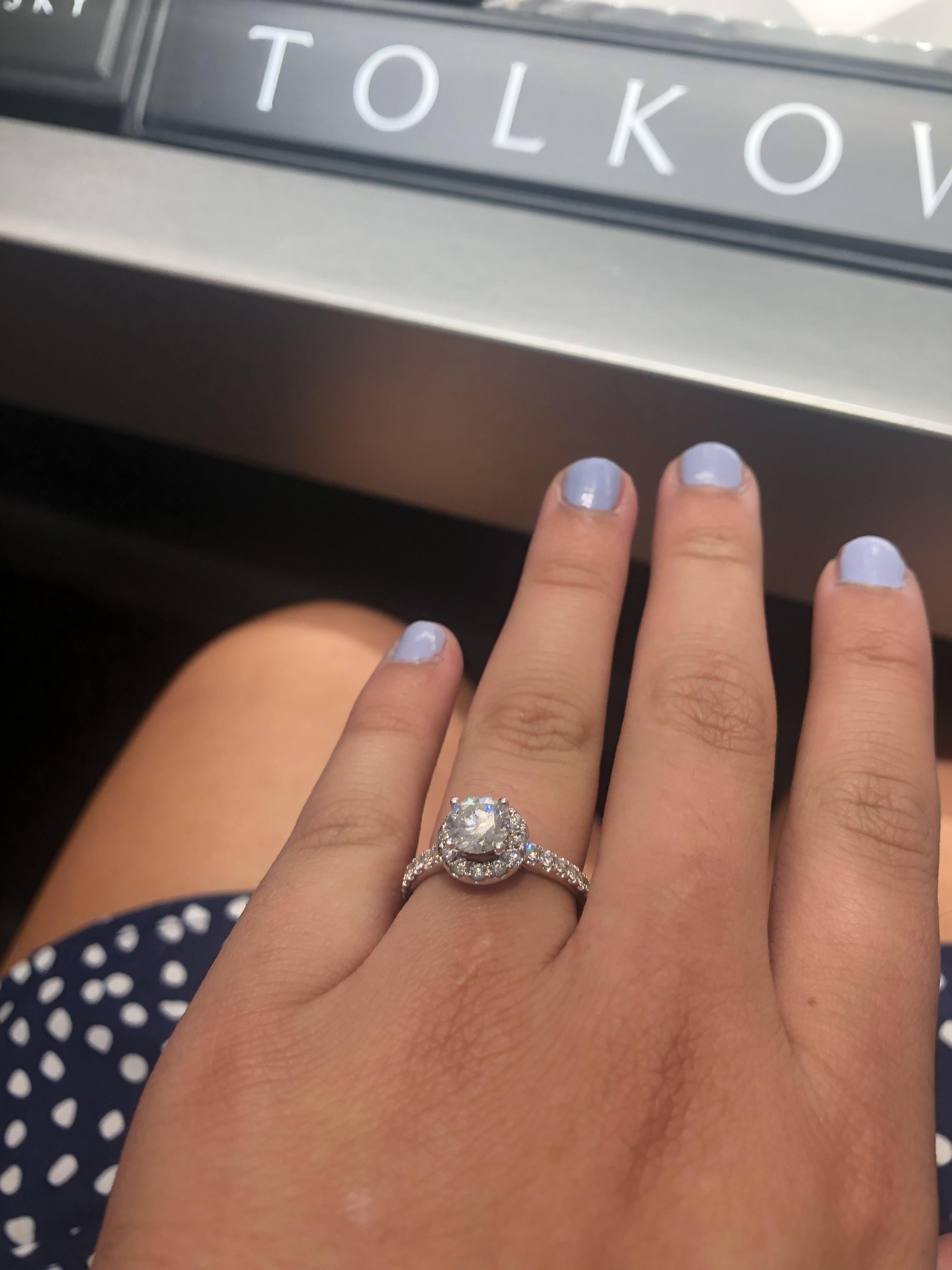 Tolkowsky Engagement Ring 1 3 8 Ct Tw Diamonds 14k White Gold Kay Tolkowsky Engagement Rings Gold Diamond Wedding Band Morganite Wedding Rings