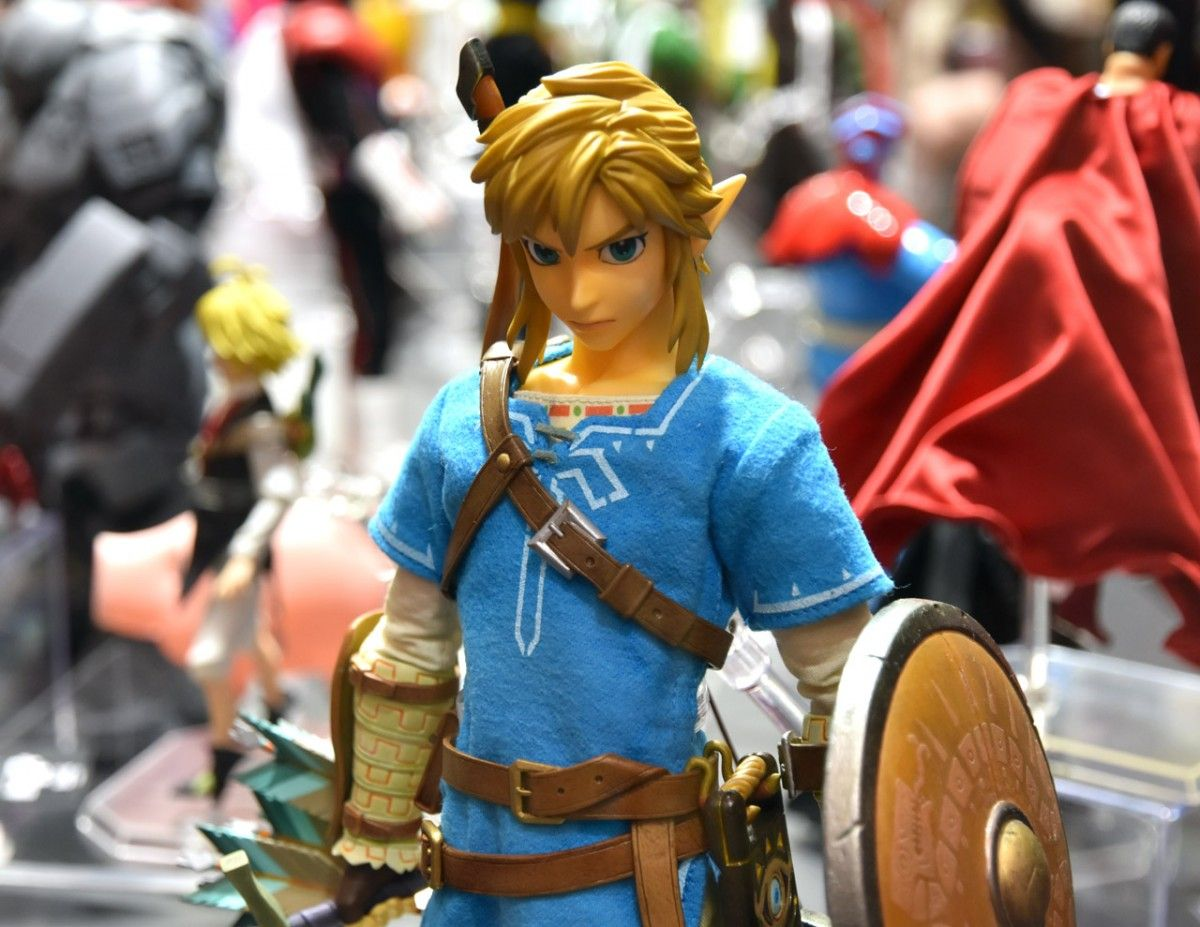 The facial sculpt on the upcoming Real Action Heroes Link from Zelda: Breath of the Wild was really quite striking. (Photo credit: Ollie Barder)