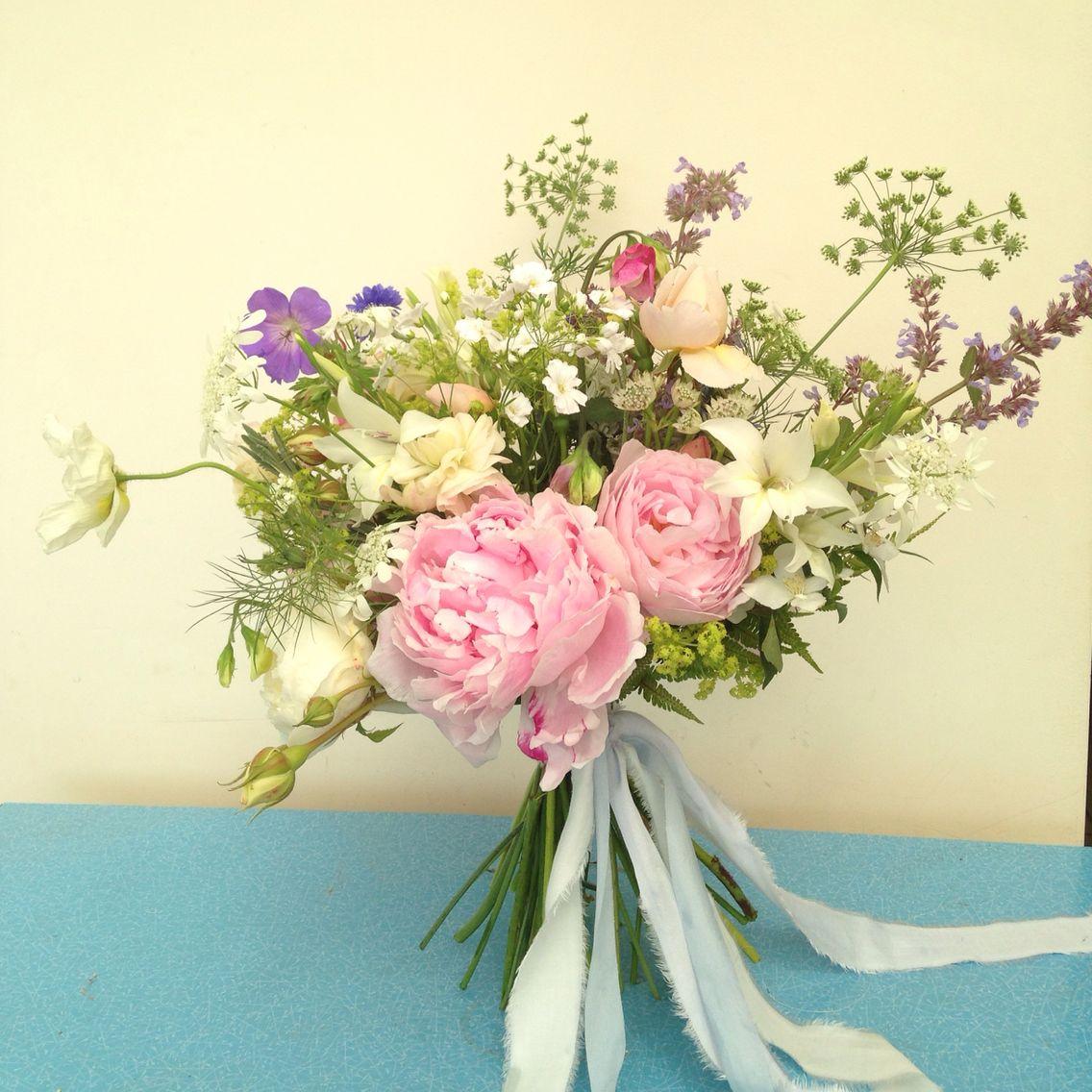 June Wedding Flower Bouquets: Late June Bridal Bouquet. 100% British Grown By BareBlooms