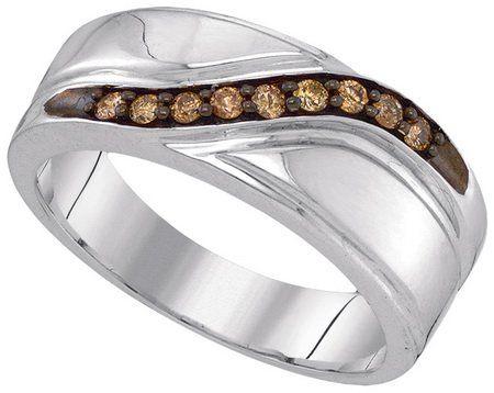 Fancy Chocolate Brown Diamond Wedding Band In White Gold | Vidar ...