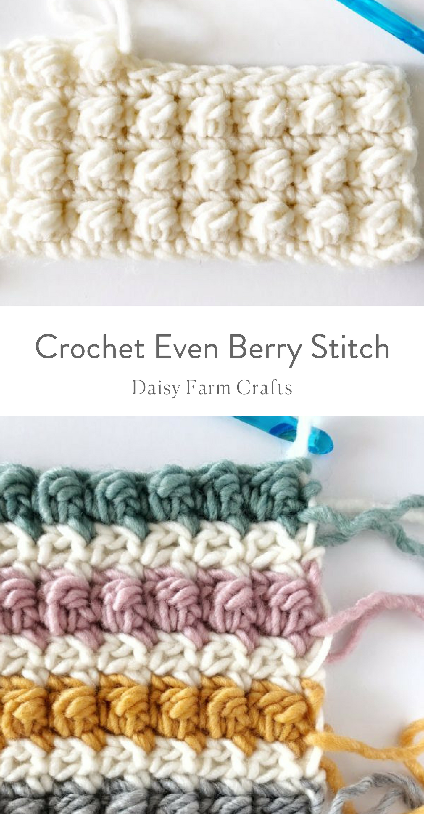 How to Crochet the Even Berry Stitch #crochetpattern | Crochet ...
