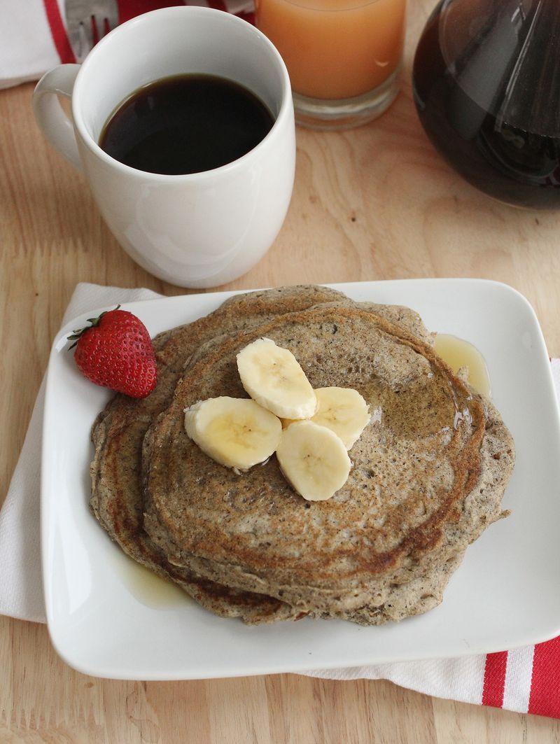 Gluten free banana trigo sarraceno pancake