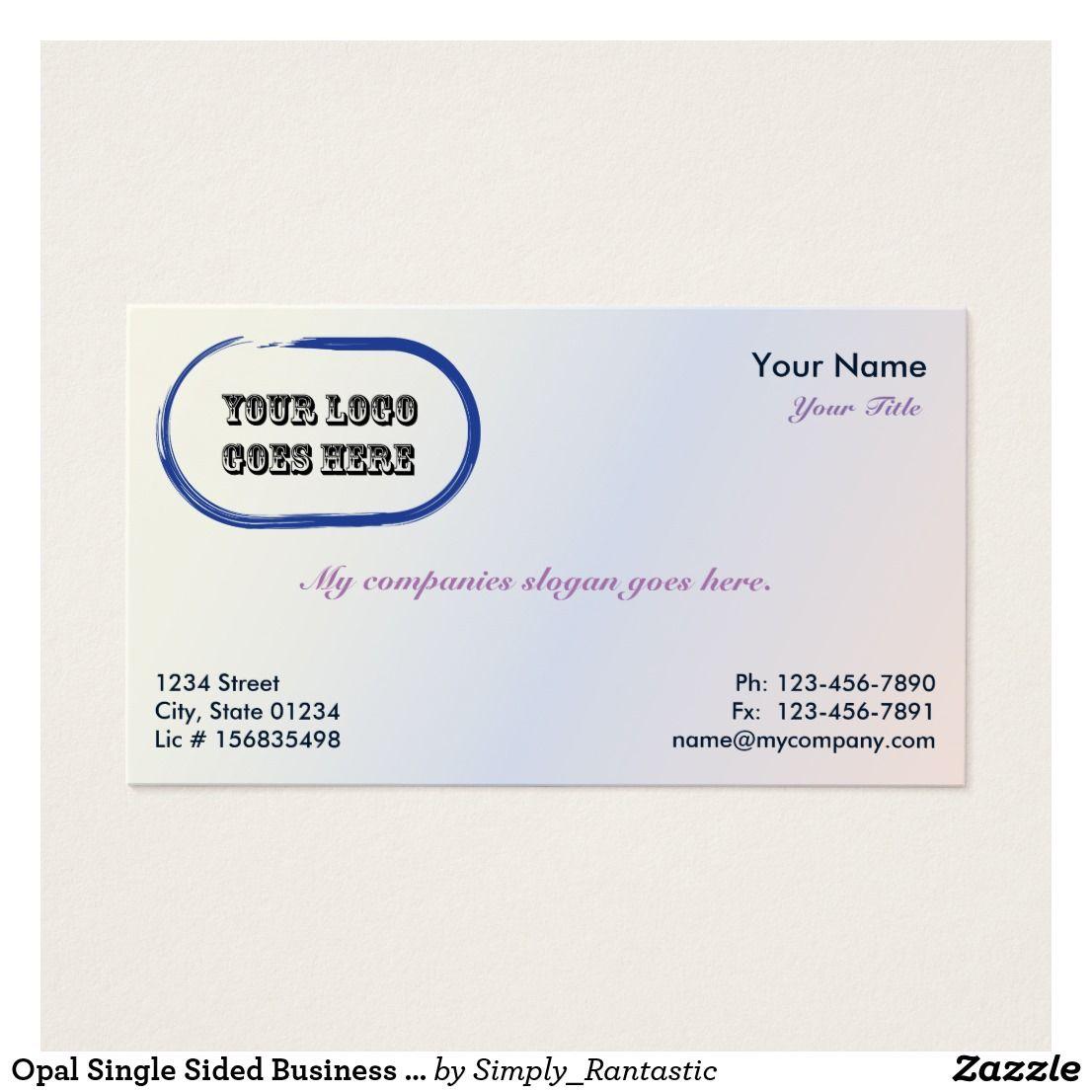 Opal single sided business card template v2 card templates opal single sided business card template v2 flashek Gallery