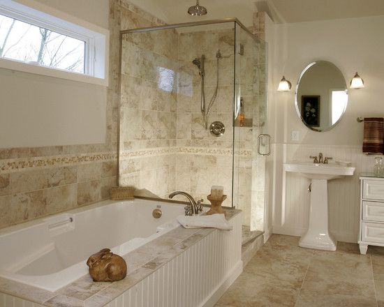 Bathroom Remodeling Portland Decoration plan b- field tile with accent listello instead of full wall