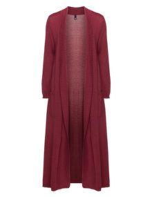 Manon Baptiste Cotton blend long line cover-up in Bordeaux-Red