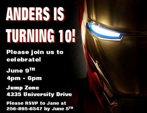 Iron Man Birthday Invitations My Birthday Pinterest Iron man