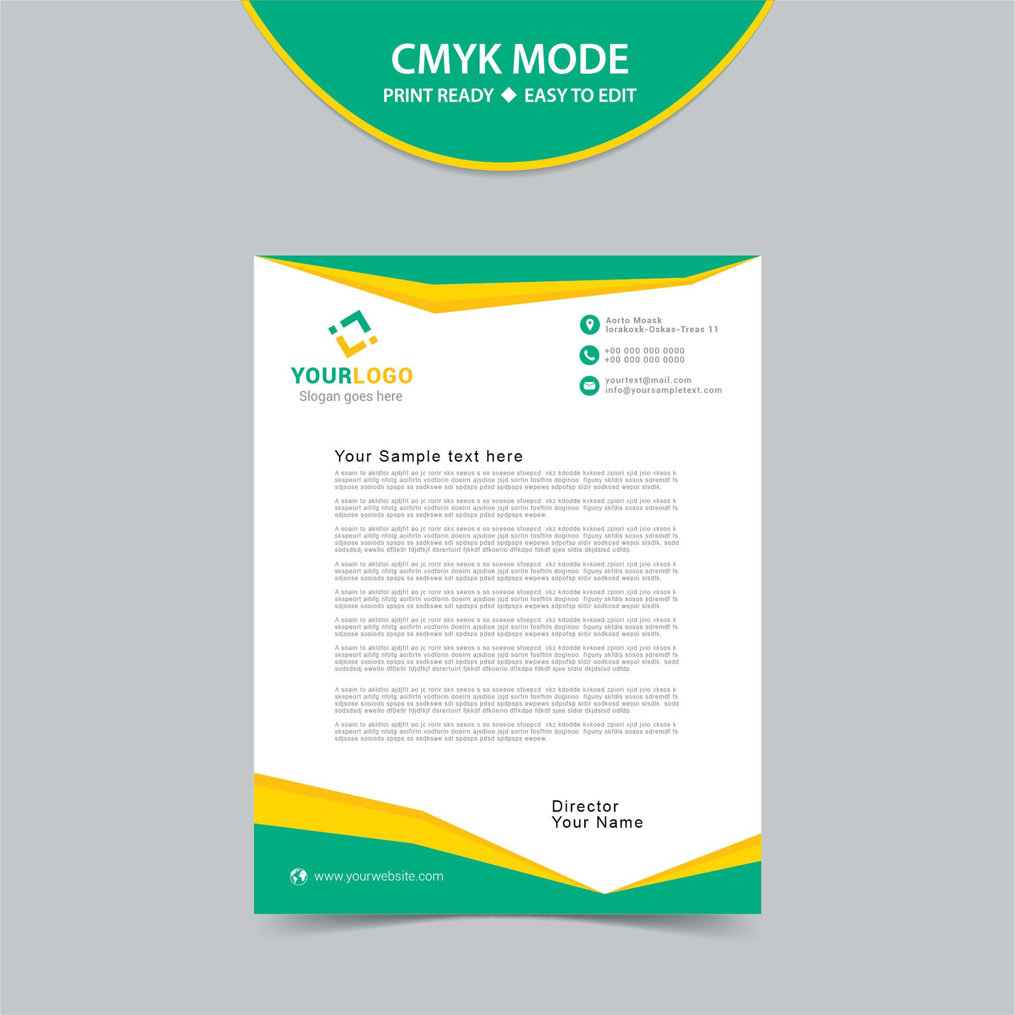 free vector letterhead template print ready career profile examples for cv accountant skills in general summary resume