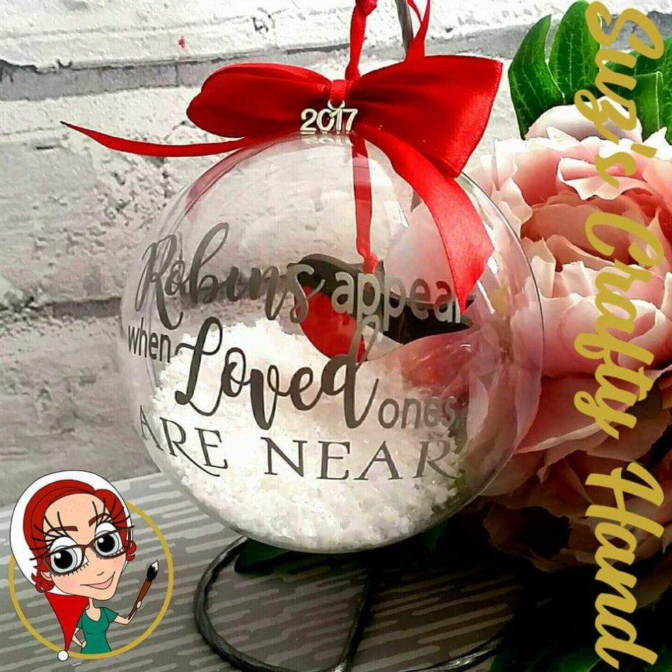Download Robins Appear When Loved Ones Are Near, 10cm Bauble FREE ...