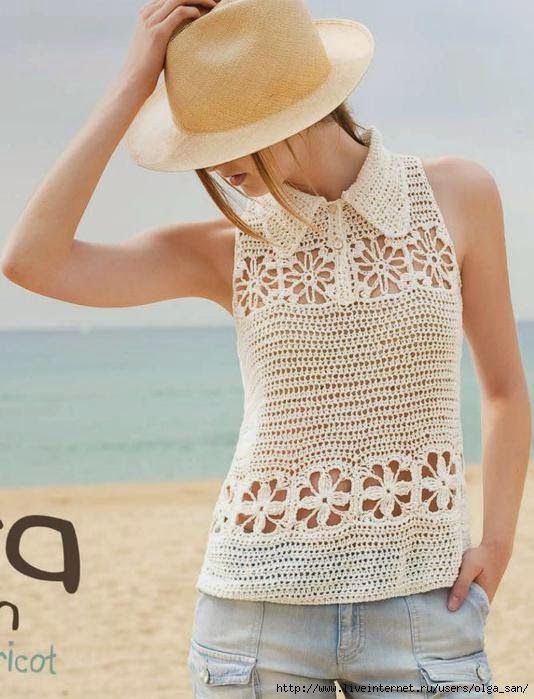 Irish crochet &: Топ | Crochet fashion | Pinterest | Blusas en ...