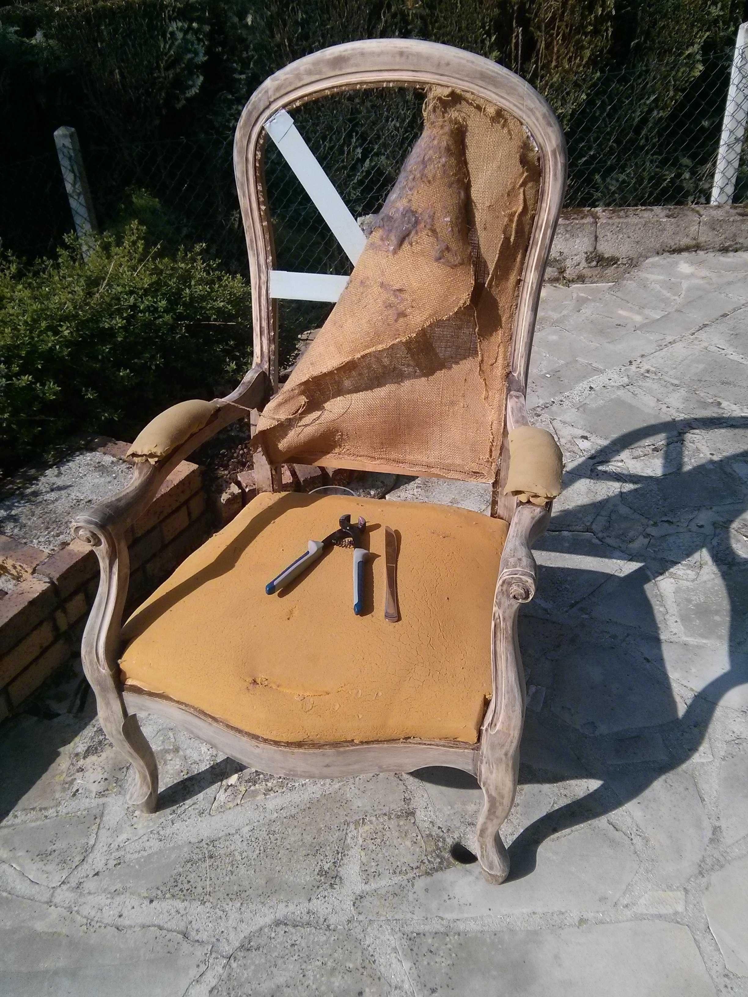 r novation d un vieux fauteuil voltaire d co dy pinterest home renovation home decor et. Black Bedroom Furniture Sets. Home Design Ideas