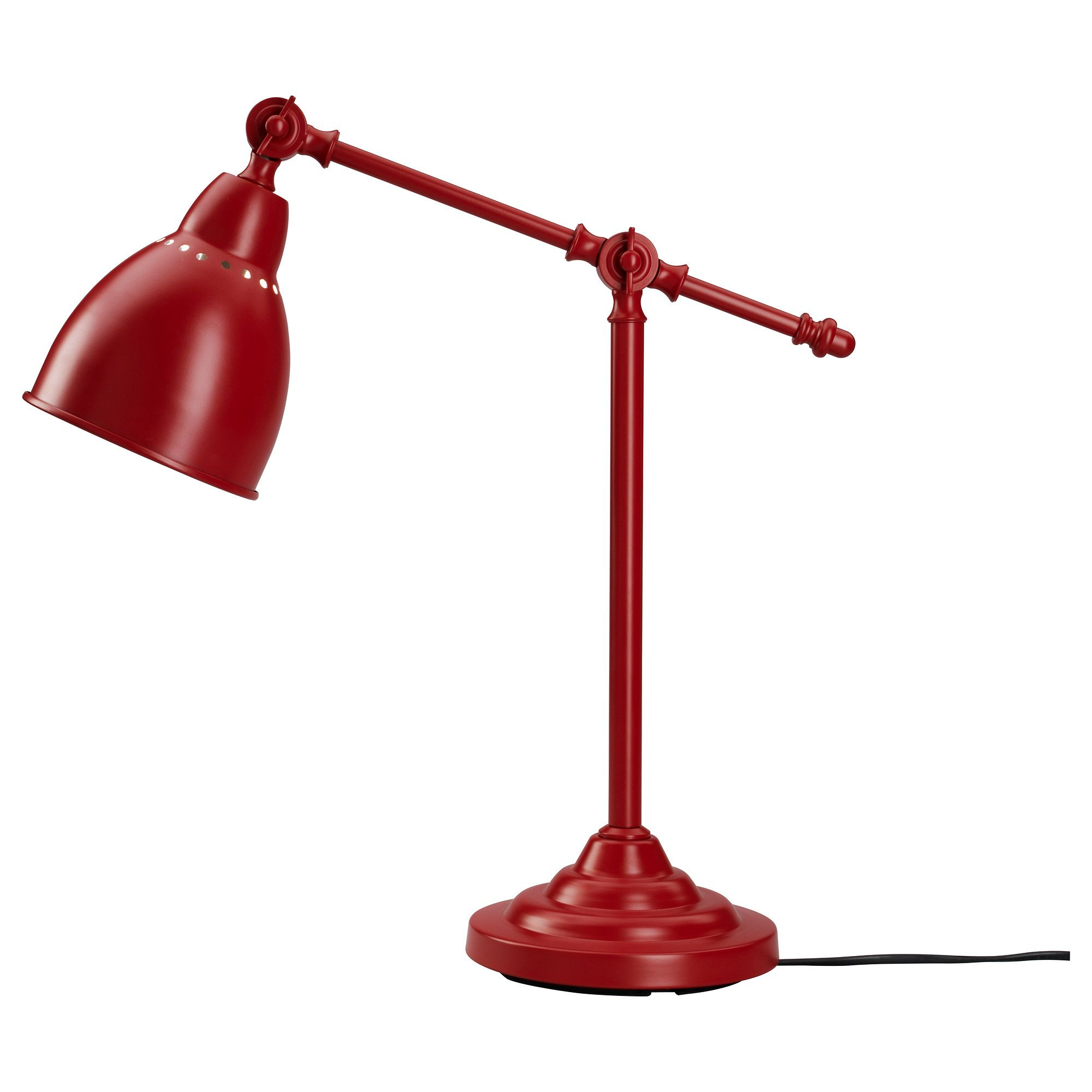 BAROMETER Work Lamp Red IKEA Decor Bedroom Nursery - Red table lamps for bedroom