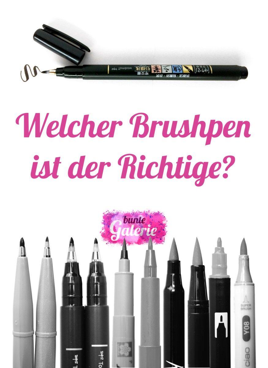 Brush Pen   Sehen, Malwerkzeuge und Schriftstile