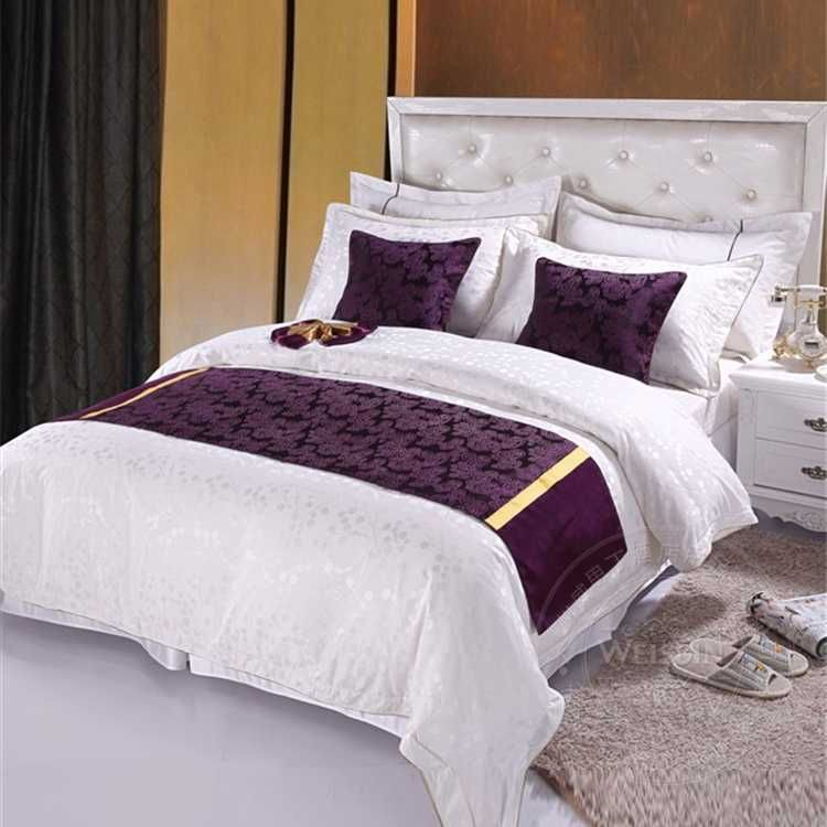 Hot Selling Hotel King Size Bed Runner Bed Throws