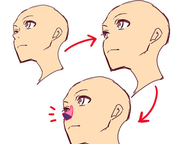 角度のついた顔を描きやすくする4つのコツ
