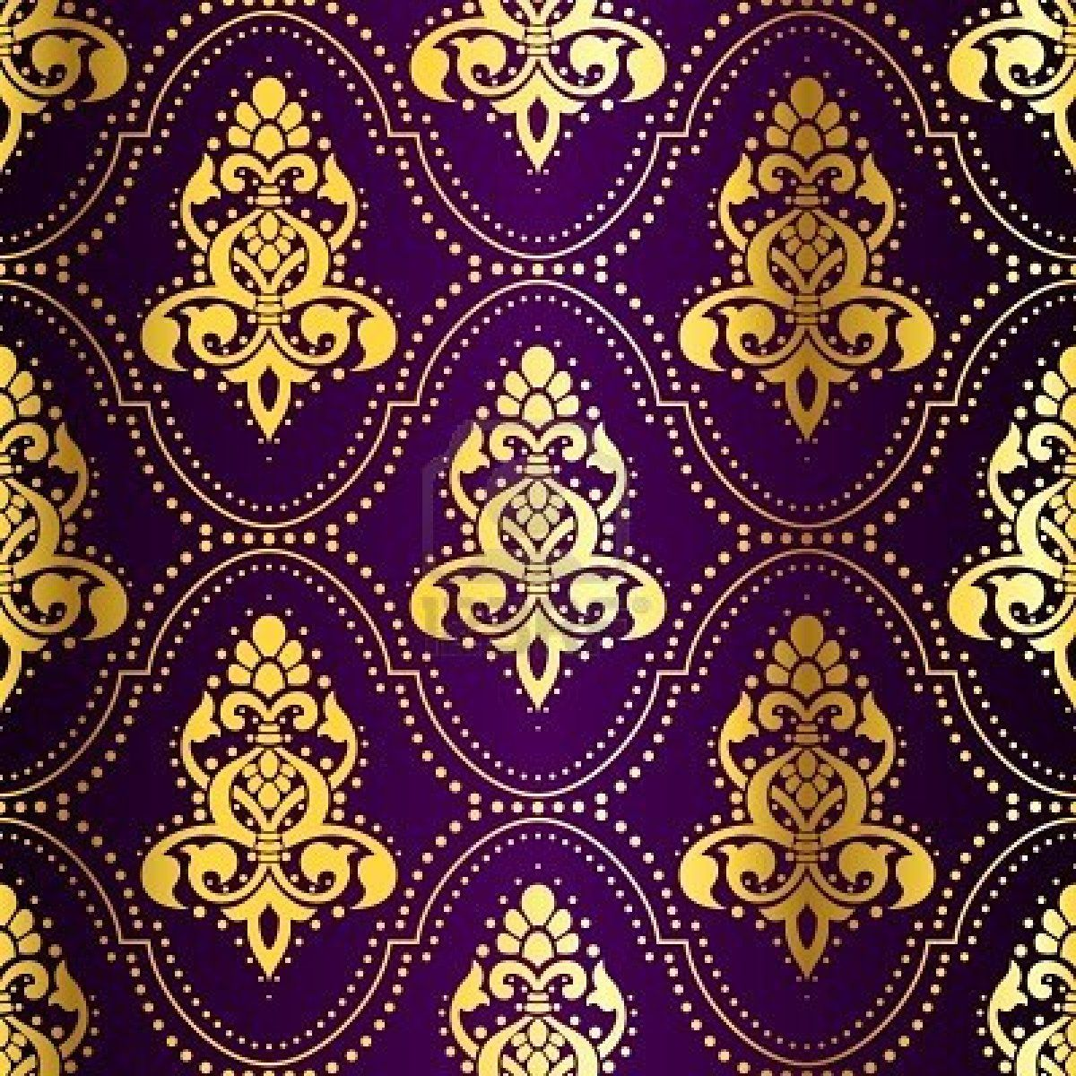 Gold on purple seamless indian pattern with dots the for Neue tapetenmuster