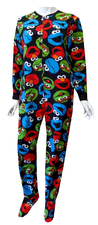 Sesame Street Elmo Oscar Cookie Monster Fleece Footie