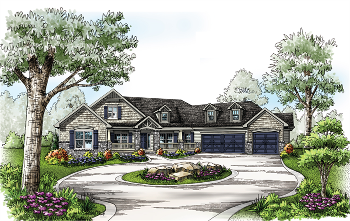 The Brentwood C House Plans Custom Home Plans Lake Front House Plans