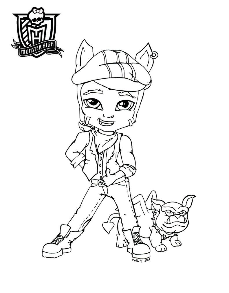 Baby Monster High Coloring Pages | Baby Clawd by *JadeDragonne on ...