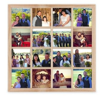 16 Square Collage Photo Frame - Natural | My House | Pinterest ...
