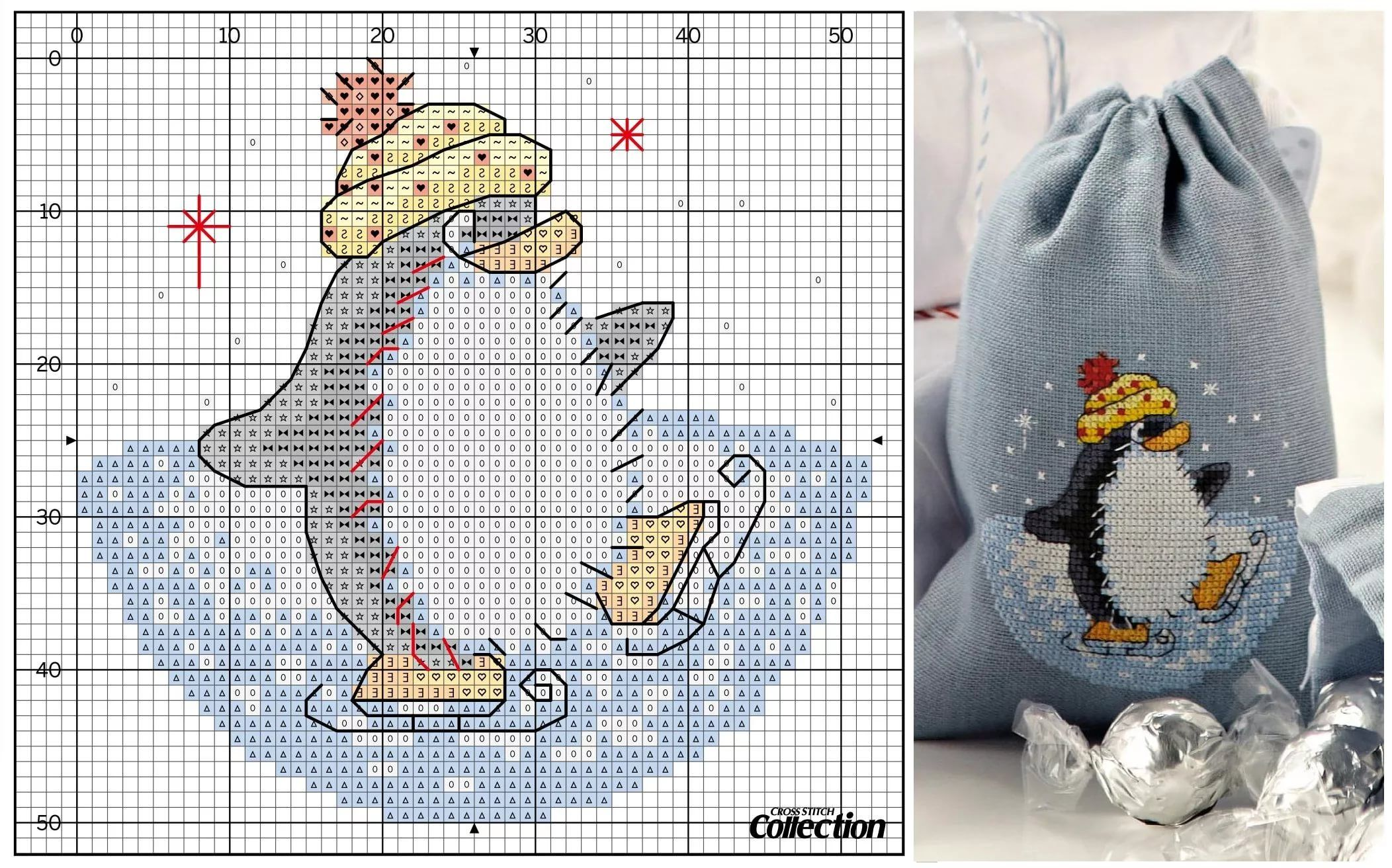 Схемы вышивка в открытках новый год