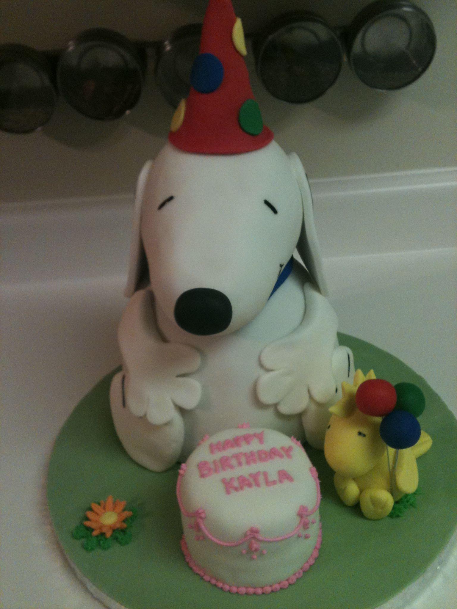 Snoopy Amp Woodstock Cake