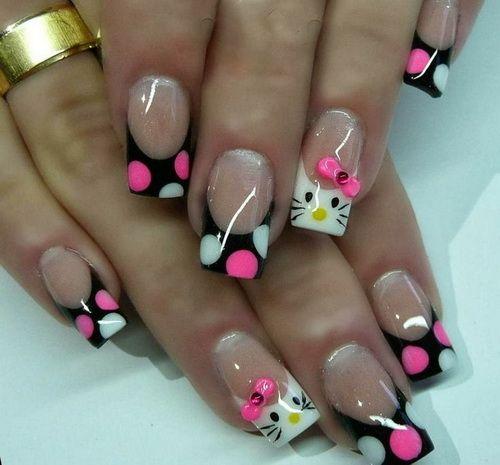 Hello Kitty Nail Designs 2014 Nails Pinterest Hello Kitty