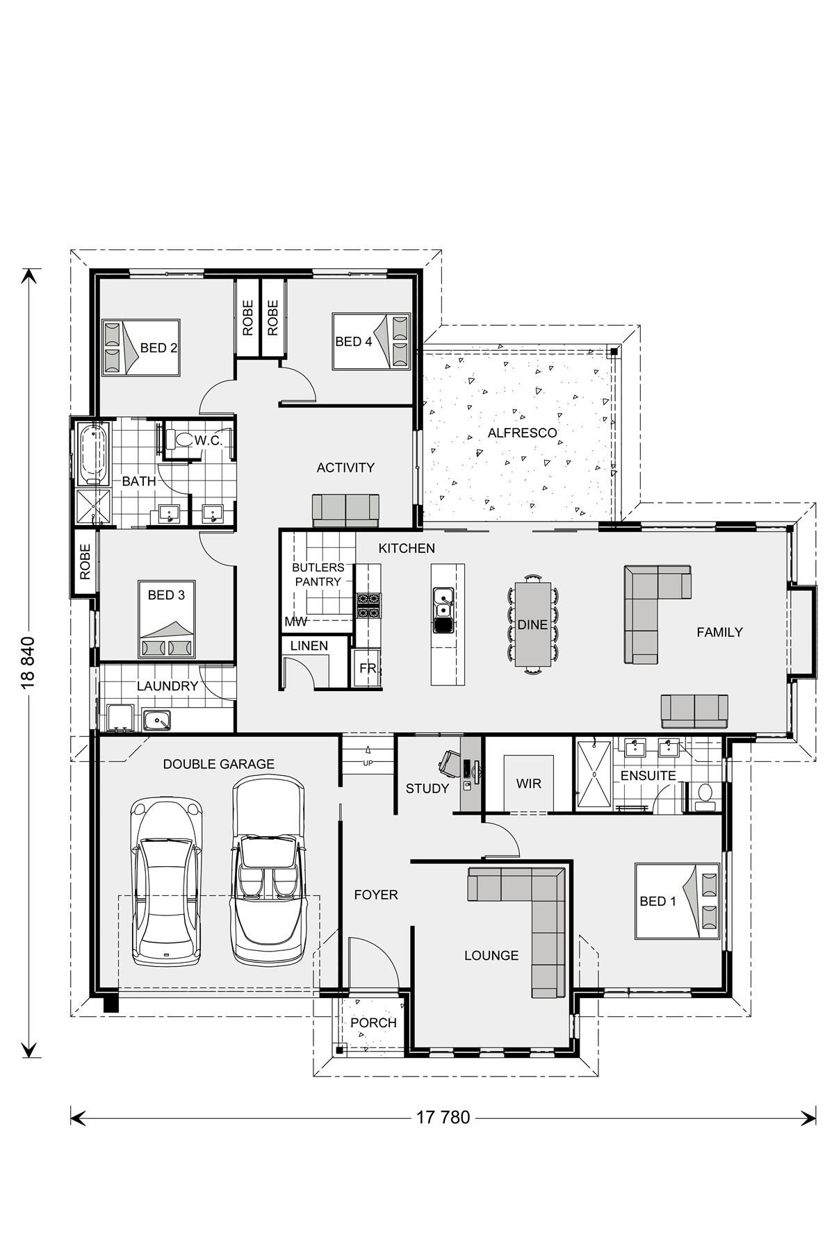 Pin By Praise Edwin On For The Home Floor Plans House Floor Plans How To Plan