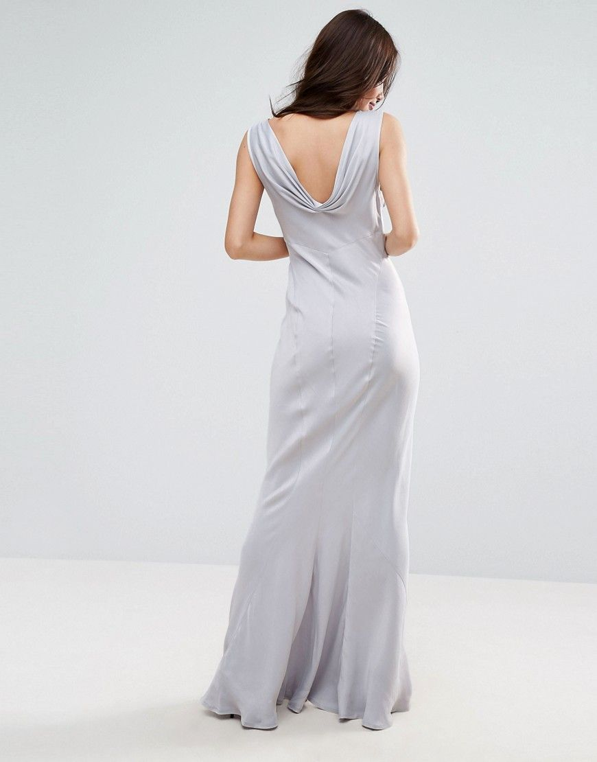 Asos wedding s seamed maxi dress blue products pinterest