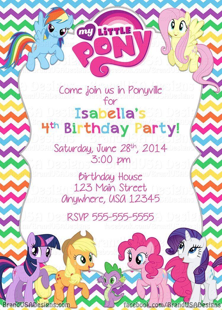 8ct My Little Pony Invitations