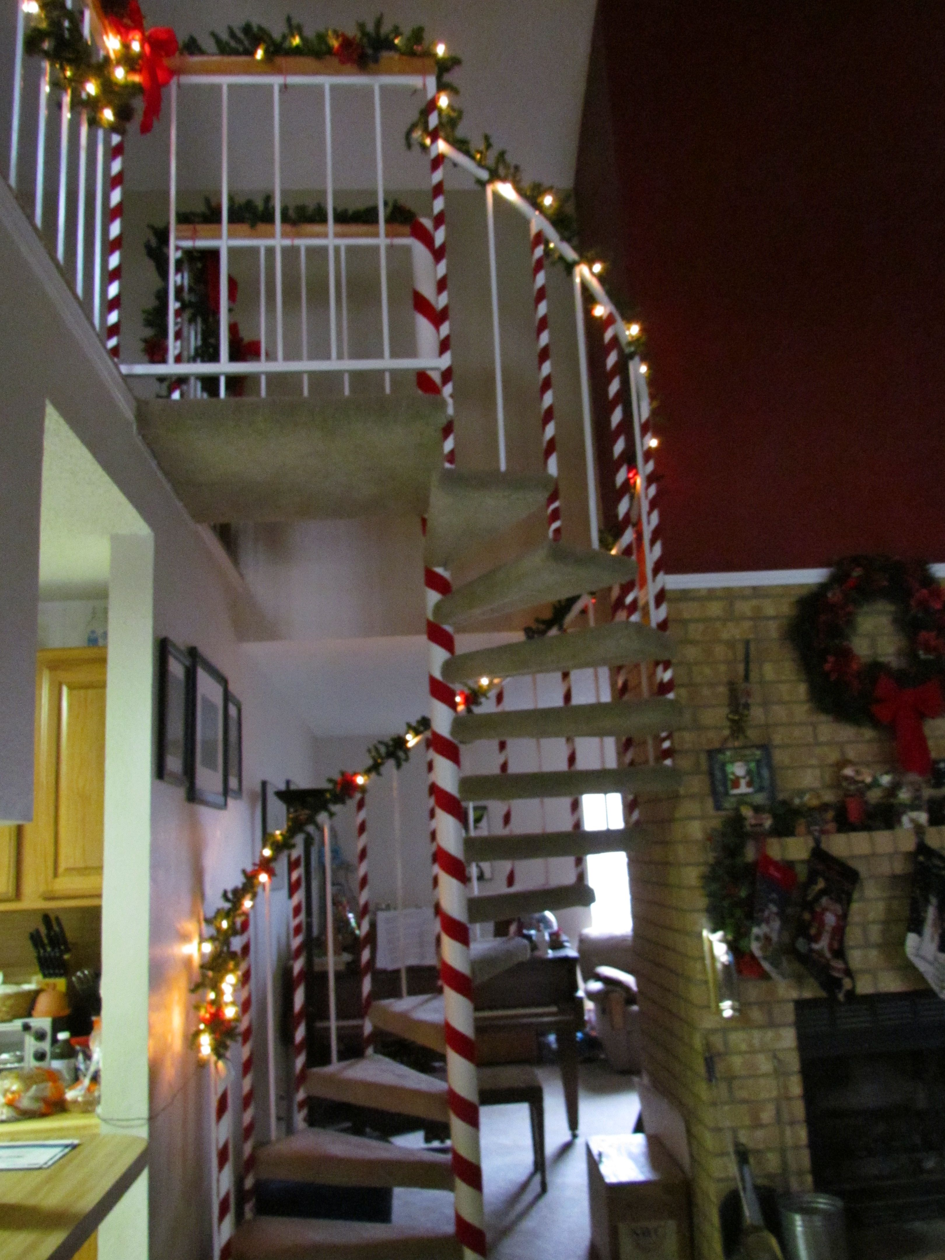 Candy Cane Spiral Staircase Christmas Pinterest