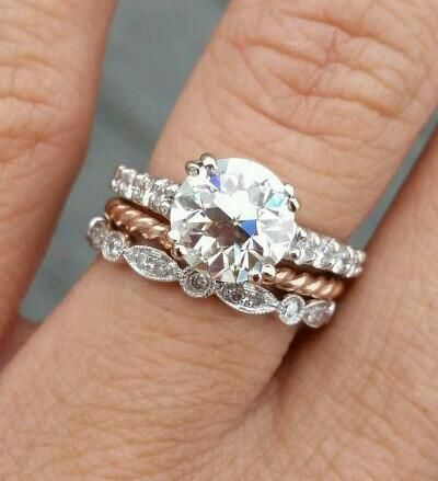 Share Your Mismatched Unique Wedding Set Or Stack Weddingbee Mixed Metal Wedding Rings Traditional Wedding Rings Stacking Wedding Rings Mixed Metals