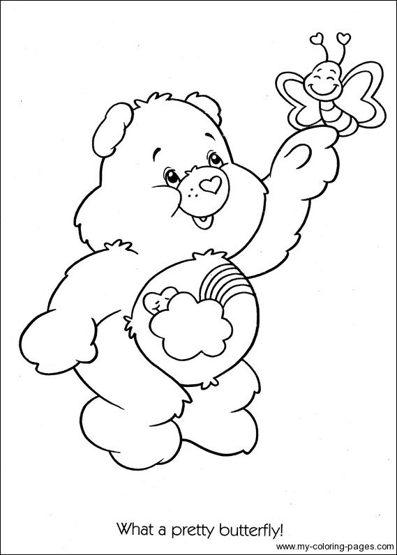 Care Bears Quot Bashful Heart Bears Quot Bear Coloring Pages
