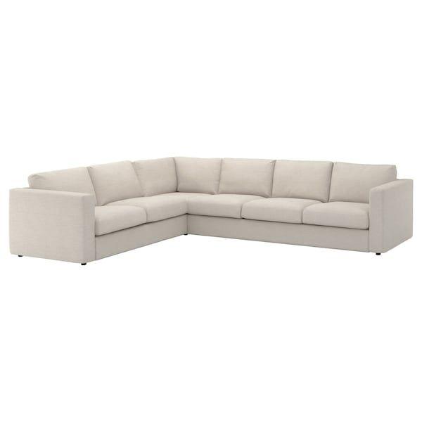Ikea Vimle Gunnared Beige Sectional 5 Seat Corner Canape D Angle Beige Canape Angle Et Housse Canape